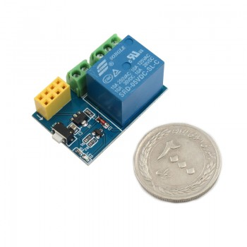 ماژول رله 5 ولت یک کاناله با قابلیت افزودن کنترل وایفای ( هسته ESP8266 )