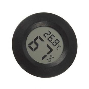 دستگاه دماسنج  و رطوبت سنج ( هیگرومتر ) مدور دارای نمایشگر دیجیتال مناسب برای محیط های داخلی