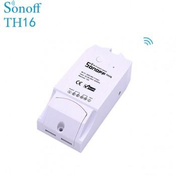 ماژول مانیتورینگ دما و رطوبت TH16 با قابلیت کنترل وایفای محصول Itead