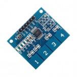 ماژول سنسور خازنی تاچ ( لمسی ) 4 تایی TTP224
