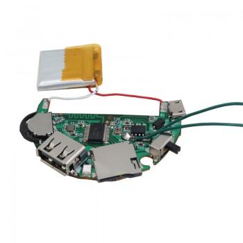 ماژول پخش فایل های صوتی دارای ورودی های بلوتوث / USB / SD CARD و گیرنده FM