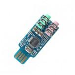 ماژول کارت صدای اکسترنال DP108 دارای ارتباط USB و سوکت هدفون / میکروفون