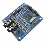 ماژول پخش فایل های صوتی VS1053 دارای امکان ضبط صدا ، جک هدفون و میکروفون