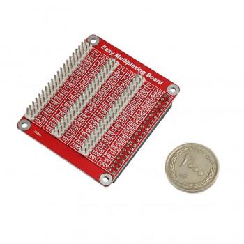 شیلد توسعه دهنده سه ردیفه GPIO رسپبری پای