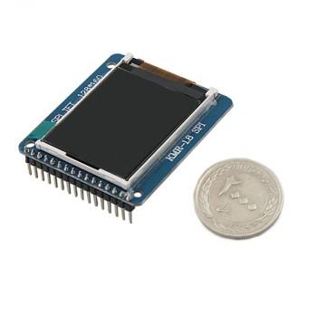 ماژول نمایشگر LCD TFT فول کالر 1.8 اینچ دارای ارتباط SPI و چیپ درایور ST7735R