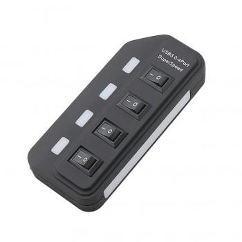 هاب 4 پورت USB3.0 به همراه سوئیچ آداپتور 5 ولت 2 آمپر
