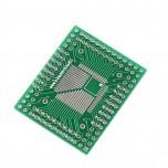 برد دو لایه تبدیل SMD به DIP ویژه آی سی های QFP/FQFP/TQFP32/44/64/80/100 LQFP