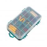 باکس پلاستیکی 8 قسمتی مناسب برای نگه داری قطعات الکترونیکی