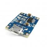 بسته 4 تایی ماژول شارژر باتری های لیتیومی TP4056 با قابلیت تغذیه میکرو USB و جریان دهی 1 آمپر
