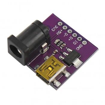 ماژول منبع تغذیه AMS1117 دارای ورودی مینی USB / جک آداپتور
