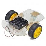 پک کامل شاسی ربات 2 چرخ به همراه موتور گیربکس دار