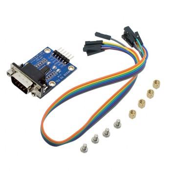 ماژول مبدل RS232 به TTL - دارای چیپ SP3232 و کانکتور نری