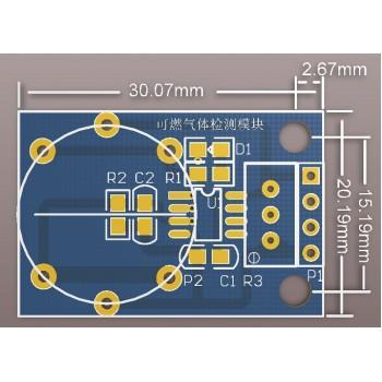 ماژول پایه سنسور های گاز سری  MQ-2 / MQ-3 / MQ-4 / MQ-5 /  MQ-6 / MQ-7