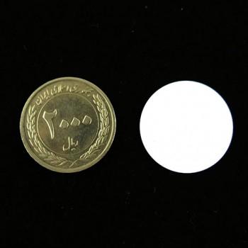 بسته 5 تایی تگ RFID سکه ای دارای فرکانس 13.56MHz و قطر 25mm