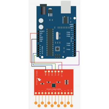 ماژول سنسور خازنی تاچ ( لمسی ) MPR121