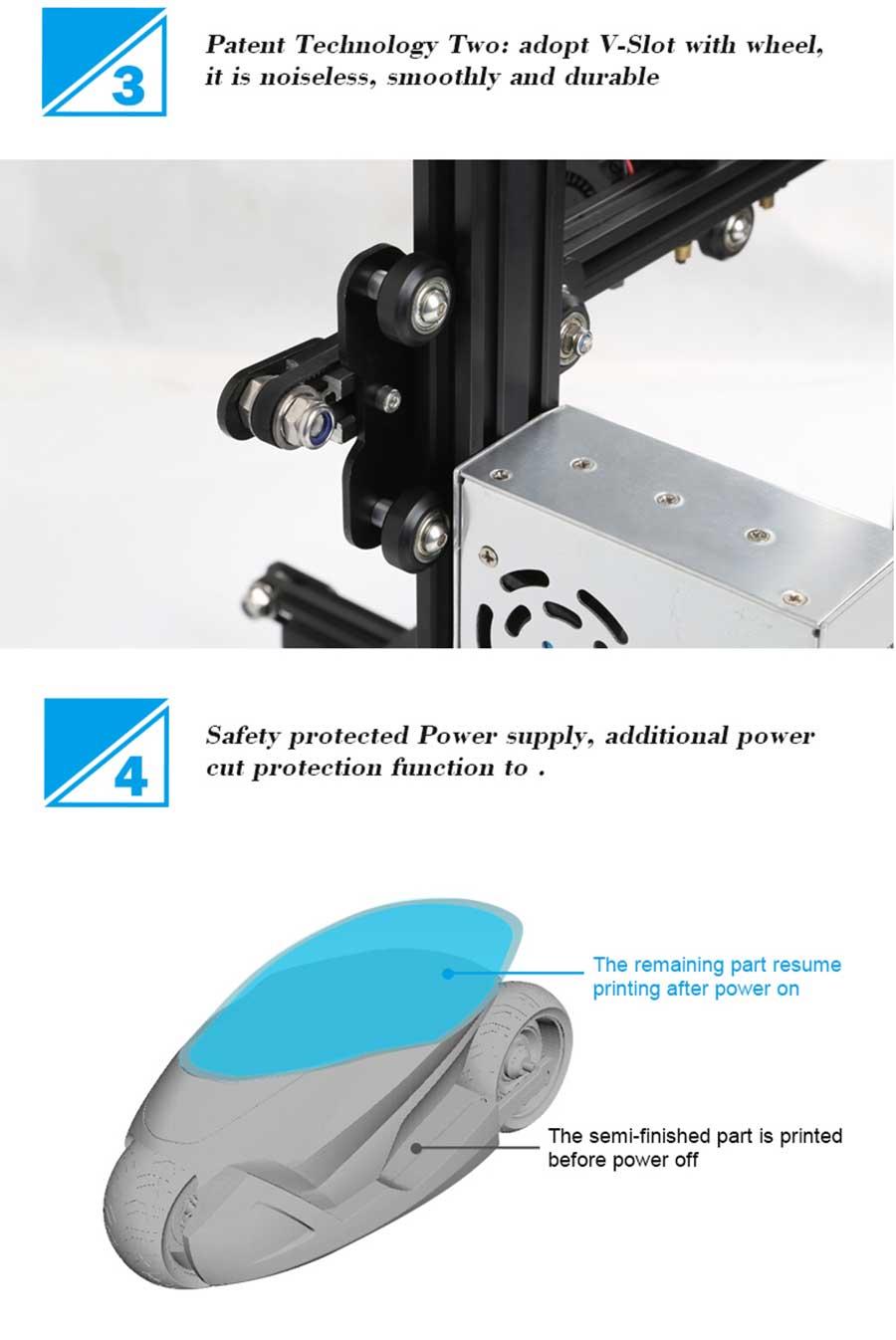 کیت پرینتر سه بعدی Ender-3 دارای تکنولوژی FDM محصول CREALITY3D