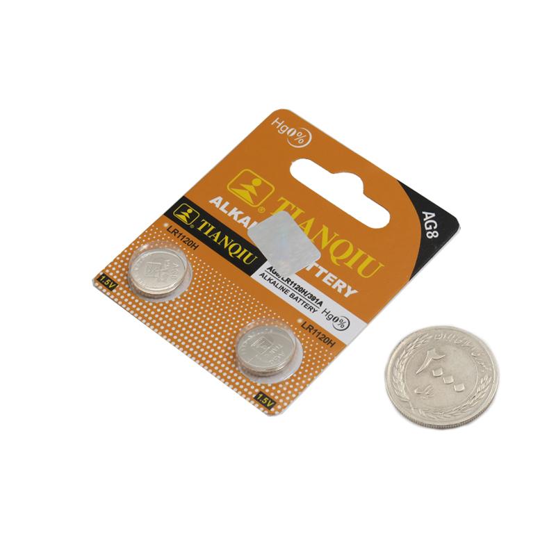 بسته دوتایی باتری سکه ای AG8