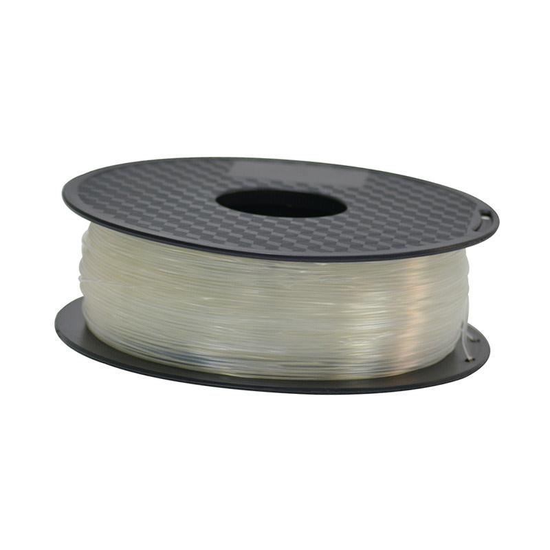 فیلامنت 1 کیلو گرمی پرینتر 3 بعدی دارای جنس PLA و قطر 1.75mm ( شفاف )