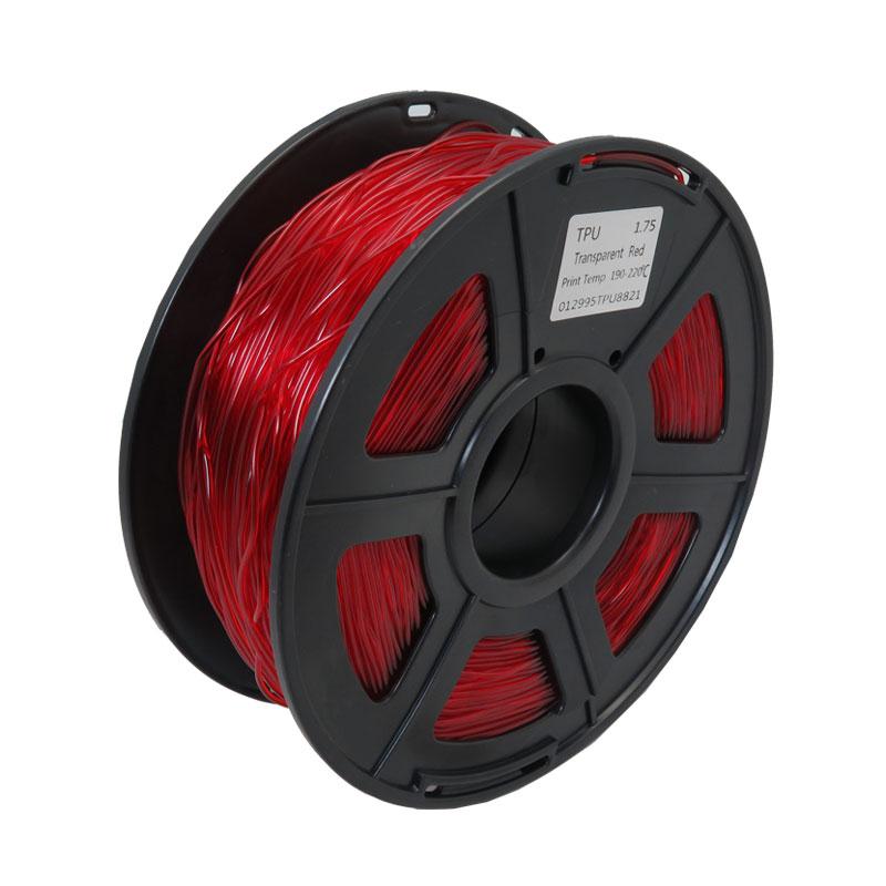 فیلامنت TPU انعطاف پذیر قرمزبا قطر 1.75mm و 1کیلوگرمی