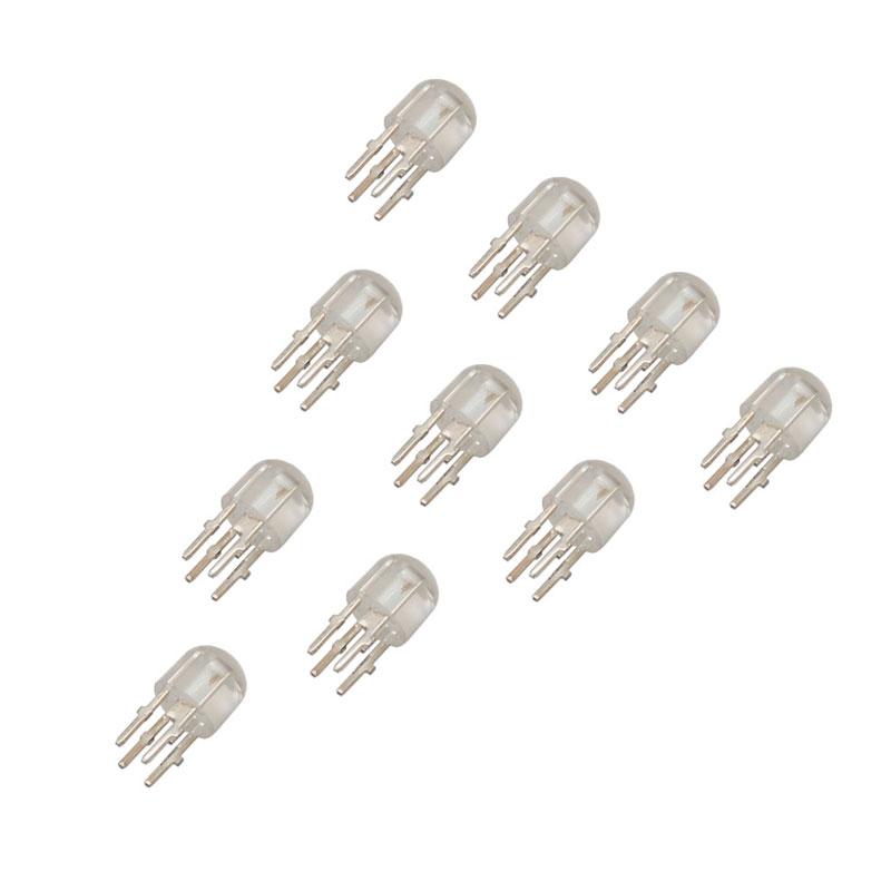 LED چهار پین فول کالر RGB آند مشترک 5 میلی متری بسته 10 عددی